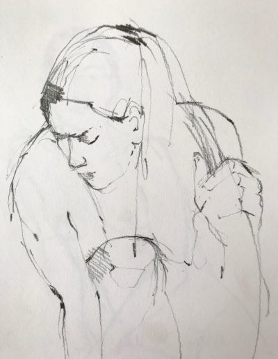 'Crouching' Pencil study