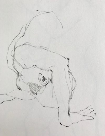 'Arm over Head'  Pencil sketch