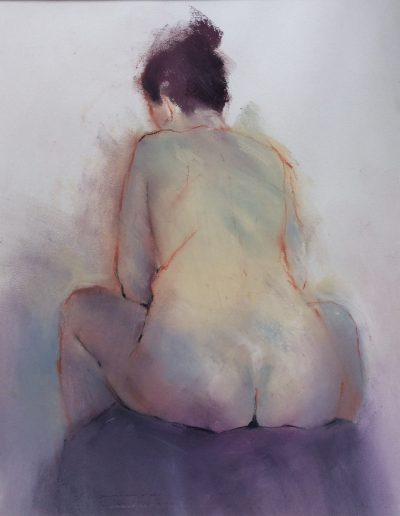 'From behind'. Pastel