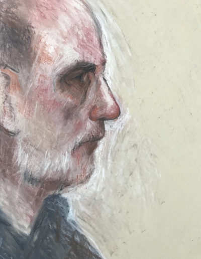 'John profile' Conte and Pastel