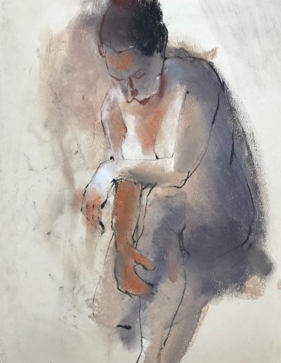 'Leaning over' Pastel