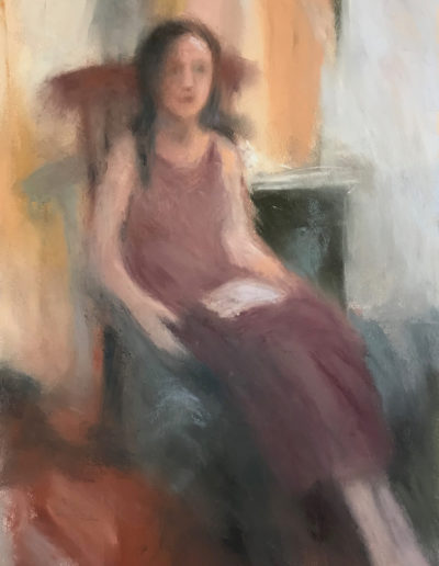 'Seated woman' Pastel